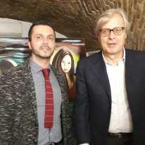 Pasquale Di Matteo con il Prof. Vittorio Sgarbi