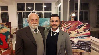 Pasquale Di Matteo (Theopa) con il Critico d'Arte, Ing. Carlo Roberto Sciascia