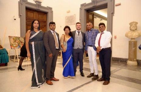 Di Matteo con delegazione dello Sri Lanka