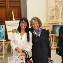 Daniela Bussolino con la famosa pittrice contemporanea, Maralba Focone