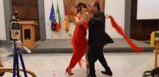 Esibizione di tango di Sergio Tirletti ed Eva La Certosa