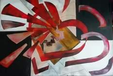 eco di un cuore 100x70 acrillici su tela