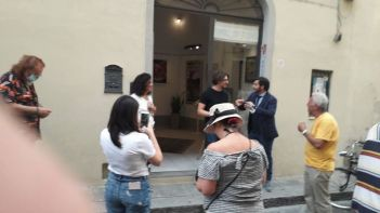 Pasquale Di Matteo e Fabio Rocca davanti alla Roccart Gallery